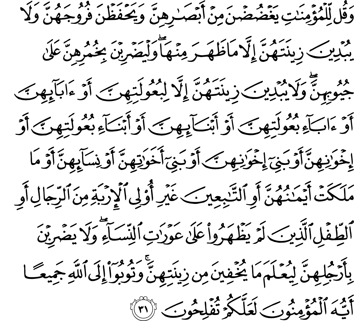 Say Hafiz 24 An Nur 31